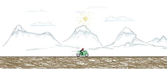 Бумажный гонщик