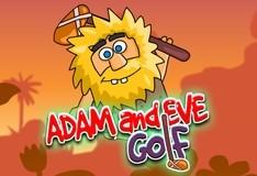 Игра Адам и Ева играют в гольф