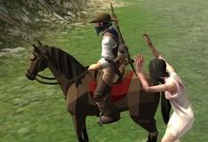 Игра Убиваем зомби на лошади