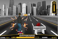 Игра Катание на скейте по улице