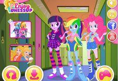 Игра Игра Девушки Эквестрии: Снова в школу с пони