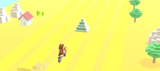 Езда на кубическом байке