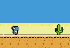 Игра Забег пиксельного динозавра